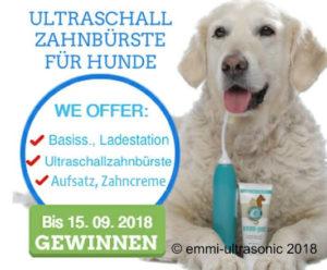 Preisrätsel für eine Ultraschallzahnbürste für Hunde